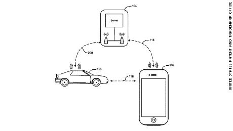 An automotive patent from Apple describes an invention where the wireless connection between your car and your phone can help you locate your vehicle in a parking building.