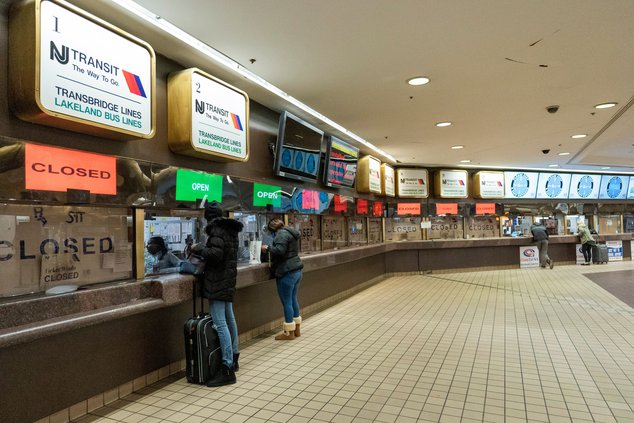 The dismal ticket hall