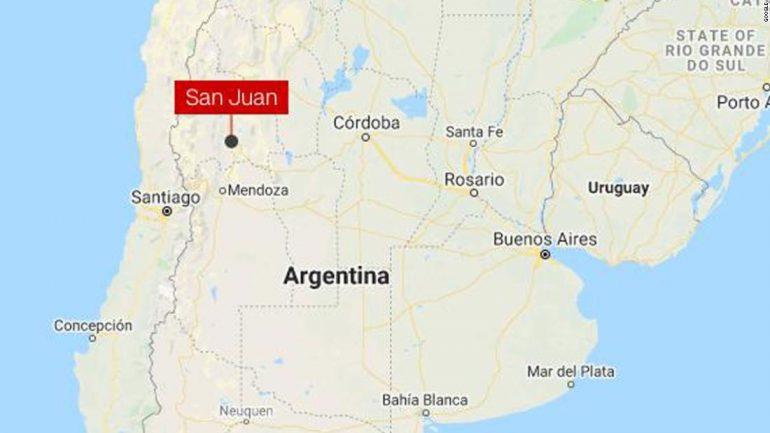 Magnitude-6.4 quake hits Argentina