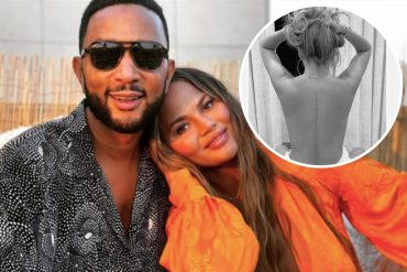 Chrissy Teigen releases new back tattoo of John Legend's lyrics